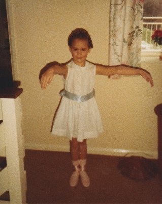 Debbie started her ballet three years earlier