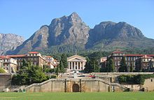 The UCT campus peaceful now but where student demonstrators were teargassed in April 1987