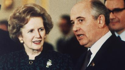 Gorbechev and Thatcher were both facing their problems