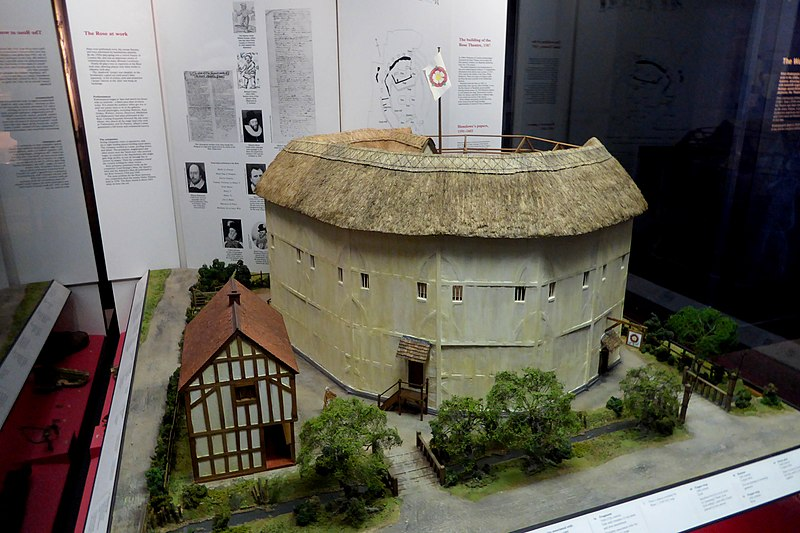 Model of The Rose Shakespeare theatre  in the Museum of London
