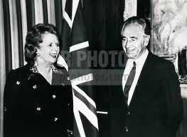 Thatcher visiting Israel in 1986