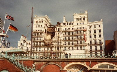 Thatcher re-opening Brighton's Grand Hotel after the bombing