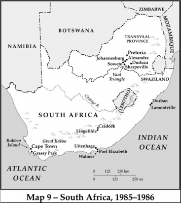 Map of South Africa 1985