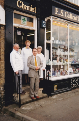 Mr Calcutt the Chemist who helped Debbie receiving Simon Hughes ina  LibDem visit i arranged some years later
