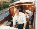 At the helm of The Lady on the Ouse 1985