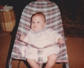Della in bouncer - Autumn 1984