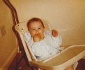 Della in high chair - later 1984