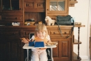 Della in her high chair in  Kitchen, 1986
