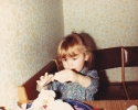 Debbie with play-dough 1982