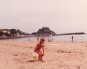 Debbie on a Jersey beach - 1982