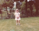 Debbie proud of our new Willow Close garden - 1982