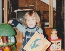 Debbie with her presents Christmas 1981