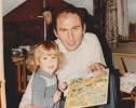 Debbie and I with her puzzle, 1981