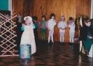 Debbie fidgeting in playschool play - 1983