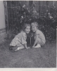 Freda's daughters Jane and Stacey in garden