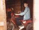 Daniel on Quad bike at Thormaid 1985