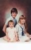 Portrait of Dan, Debs and Dels 1985