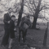 Fred and David with pony c1953