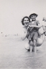 Mum (Grace) and I paddling c1950
