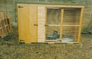 Garden kennel at Harnser for Sam as a puppy late 1992