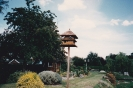 Hayling View riverside garden, doves in dovecote 1993