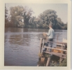 David Broad fishing from Brundall chalet landing stage 1961