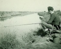 Early fishing holiday at Horsey fishing on Waxham Cut, 1960