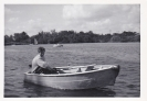 David at Bridge Broad on a dinghy 1962/3