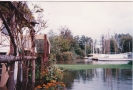 Ropes Hill Dyke moorings from Romany in Horning floods, pre 1997