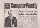 Tebbut's standstill budget comments - Computer Weekly March 7th 1985