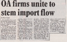 OA firms unite to stem import flow; Electronics Weekly March 20th 1985 Pt2