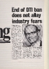 End of DTI ban not allying industry fears; Computing April 1985