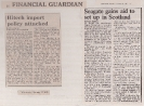 Attacking subsidies to foreign competitors - Guardian Financial pages February 13th and 28th 1985