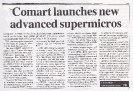 Comart launch advanced supermicros, Minicomputer News Aug 1984
