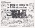 Comart Long Hot Summer, Computer News 12 July 1984