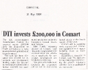DTI invests £200K into Comart  - 31st May 1984